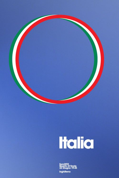 Italy – Euro 2012 Poster