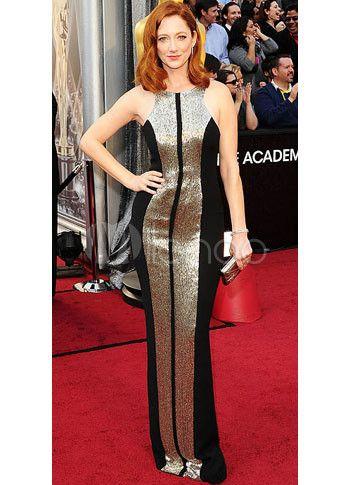 Sheath Jewel Neck Floor-Length Black Lace Celebrity Dress