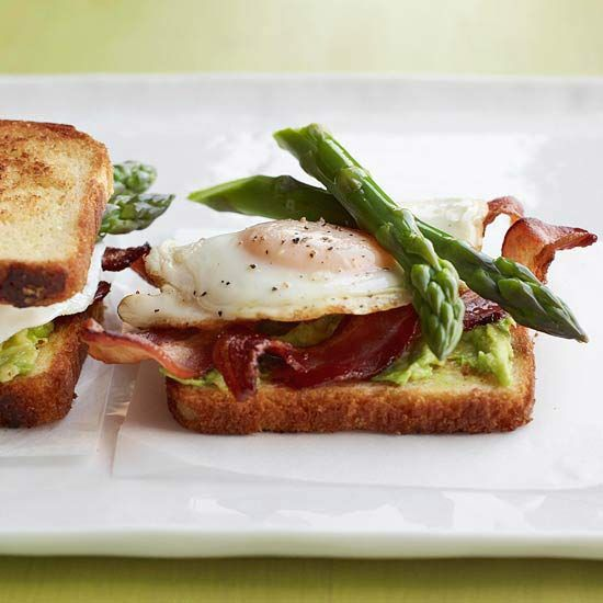 Serve these Avocado and Asparagus Egg Sandwiches open-face for lunch or breakfast.