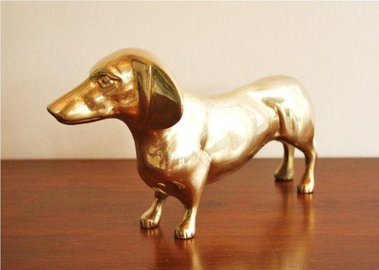 brass dachshund