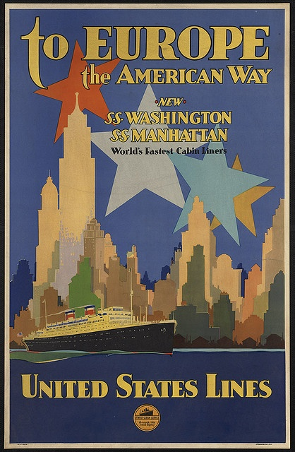 To Europe the American way by Boston Public Library, via Flickr