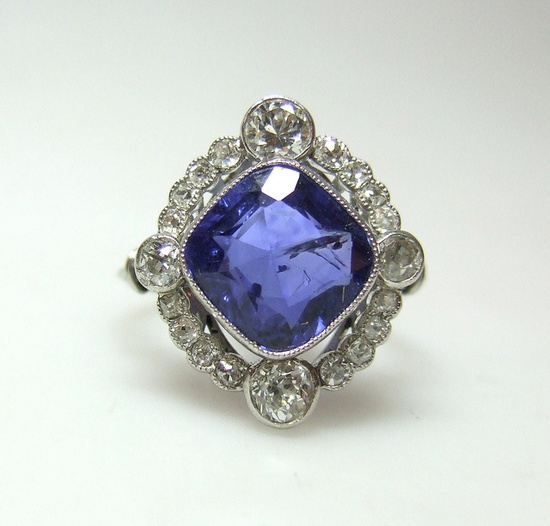 Art Deco Sapphire Ring by Grays Antiques, 1920's.