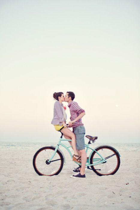 #beach #bike #kiss