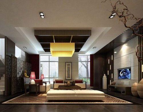 modern oriental asian themed interior design