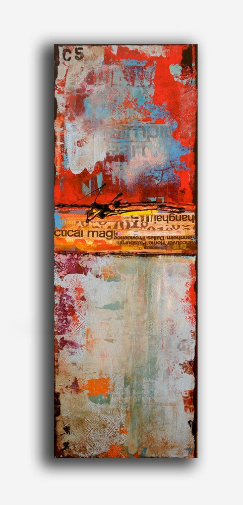 Painting ABSTRACT ART mixed media on wood    ...BTW,Check this out:  artcaffeine.imobi...