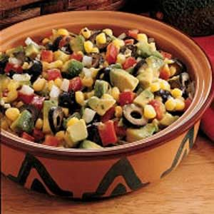 Three of faves...black beans, corn and avocado!