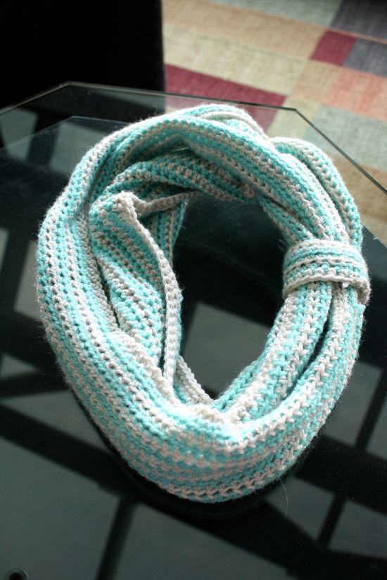 Scrap Yarn Crochet Cowl. Free Pattern from Revelry