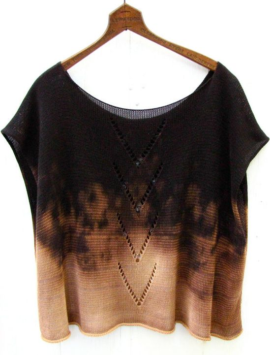 Bleached Arrow Knit Top