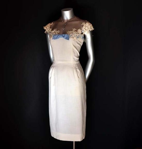 Bow Peep Vintage 50's Embellished Wiggle Dress