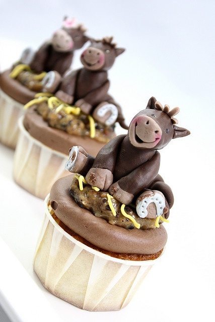 The cutest horse cupcakes EVER!!!