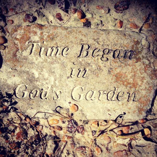 Garden decor ...plaque with meaning