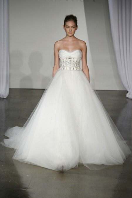 Could this hot-off-the-runway Marchesa Fall 2013 Bridal gown be Blake Lively's wedding dress?