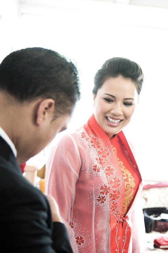 Wedding ao dai (traditional Vietnamese dress)