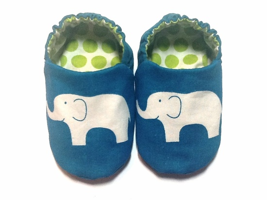 Elephant Baby Boy Shoes (Organic Cotton). $20.00, via Etsy.
