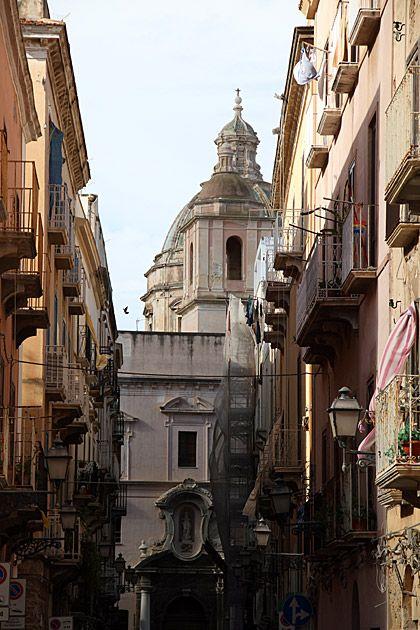 Street of Trapani, Sicily, Italy