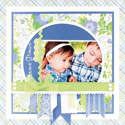 Home Grown Love Scrapbook page