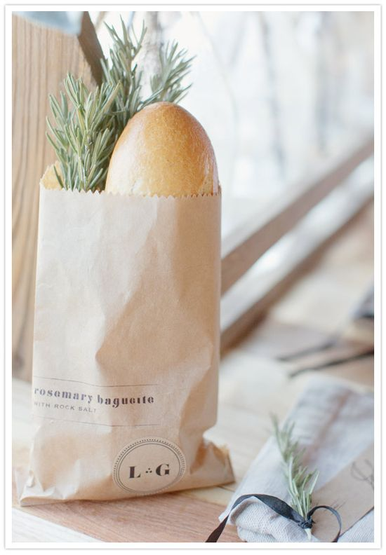 baguette wedding favor