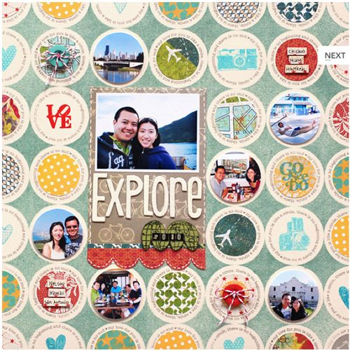#papercrafting #scrapbook #layout detailed circles.