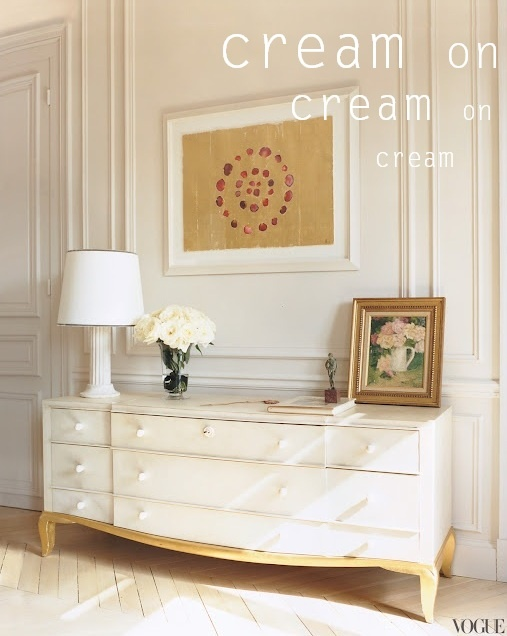 Cream in Interior Design and decor