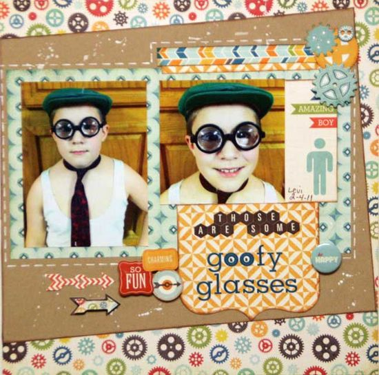 need to do a just goofing off page Those Are Some Goofy Glasses - Scrapbook.com