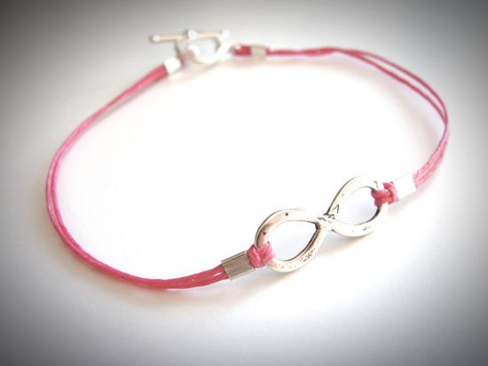 Sterling Infinity Me bracelet on linen by JewelryByMaeBee on Etsy, $24.00