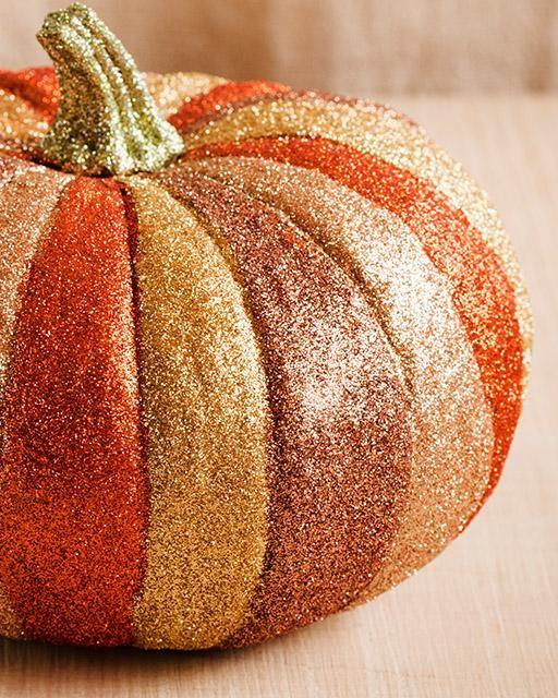 Make a Glitter Pumpkin