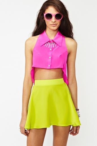 Silk Circle Skirt  www.nastygal.com/...