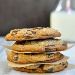 Best chocolate chip cookies.  These cookies have crunchy edges, chewy centers and there are  chips in every bite.  Cookie perfection!