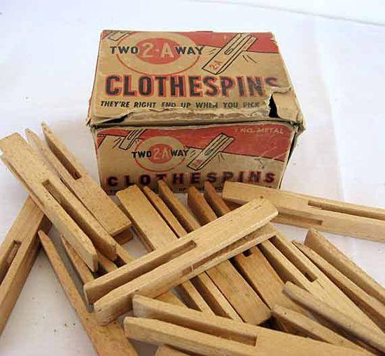 1940's clothes pins***