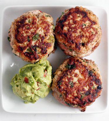 Paleo Jalapeño Chicken Burgers - grill, whole30, freezer meals, oamc