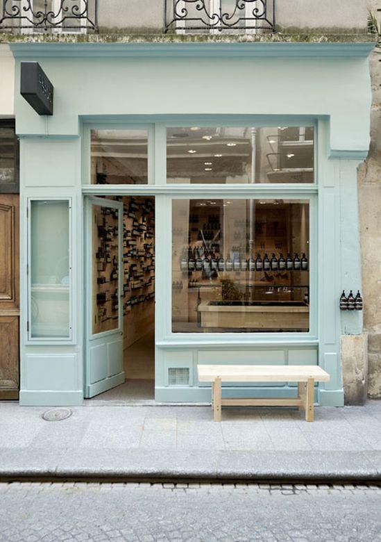 Aesop storefront, Paris