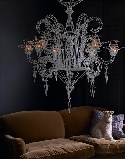 Very stylish #chandelier from interior designer Abigail Ahern. #furniture #home #interior #decorations