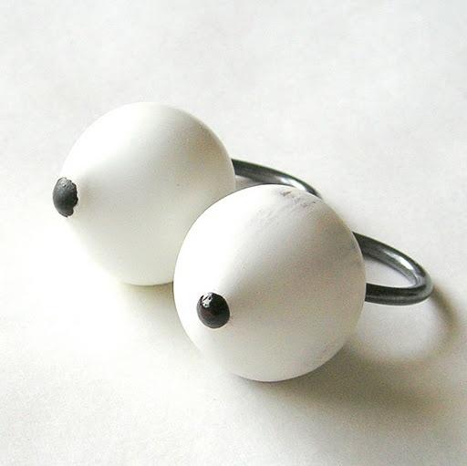 Romi Bukovec -rings -  prstana; les, srebro