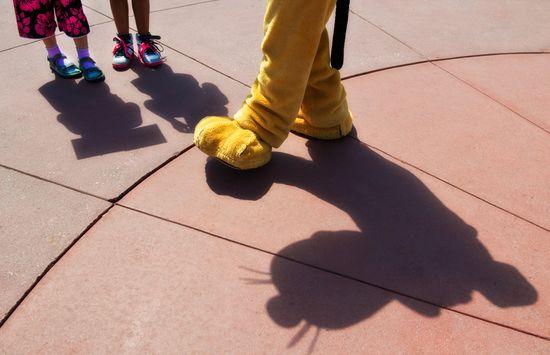 Pluto shadow at the Magic Kingdom // Walt Disney World
