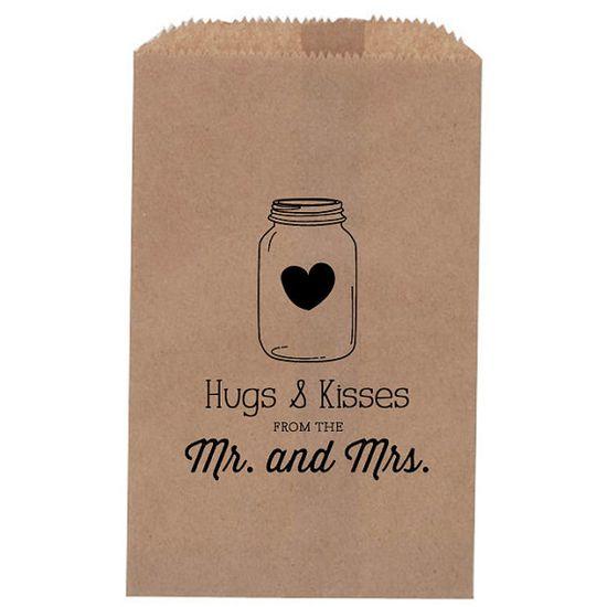 Rustic Wedding Favor  Mason Jar treat Bag Favor by inoroutmedia, $30.00