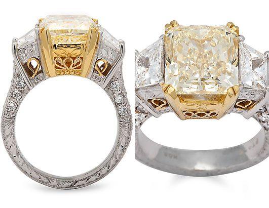 6 carat yellow diamond