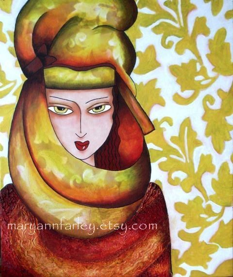 Egyptian Girl Art Print by Mary Ann Farley, $20.00