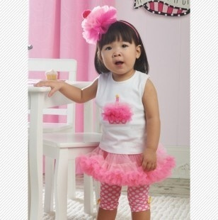 Adorable Birthday Cupcake Outfit.