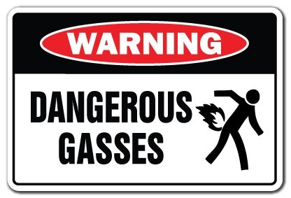 Amazon.com: DANGEROUS GASES Warning Sign gag novelty gift funny fart farting pass gas stink: Home & Kitchen