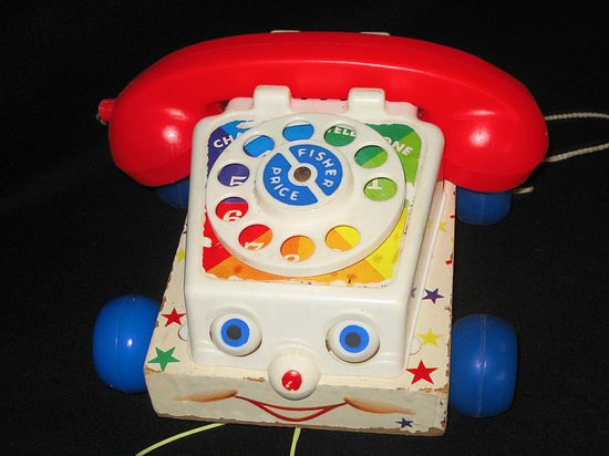 Fisher Price, Toy Phone. Probably 1970's.  I loved playing with mine.