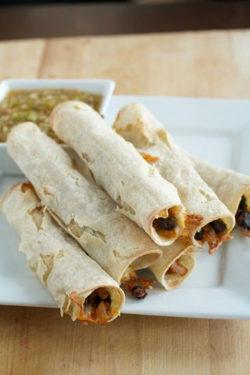 Looks quick and easy. Black Bean Baked Taquitos