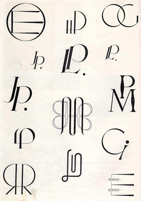 Deco Monograms.