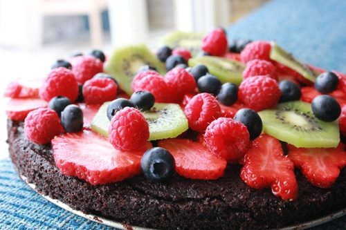 chocolate + fresh fruit= winning!