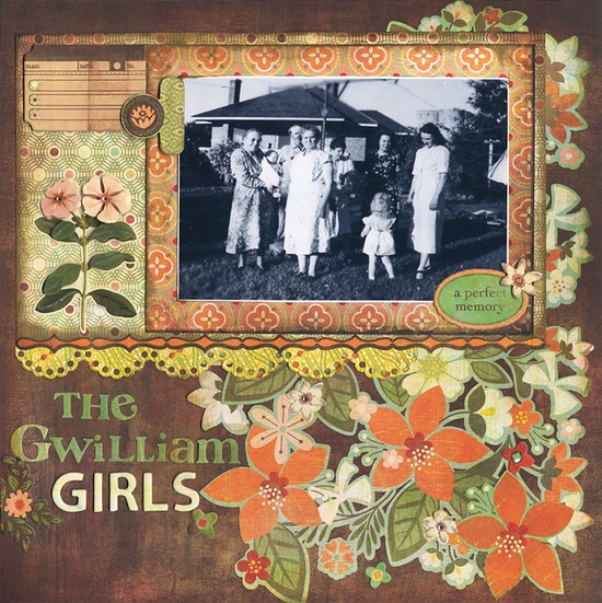The Gwilliam Girls - Scrapbook.com - #scrapbooking #layouts #basicgrey