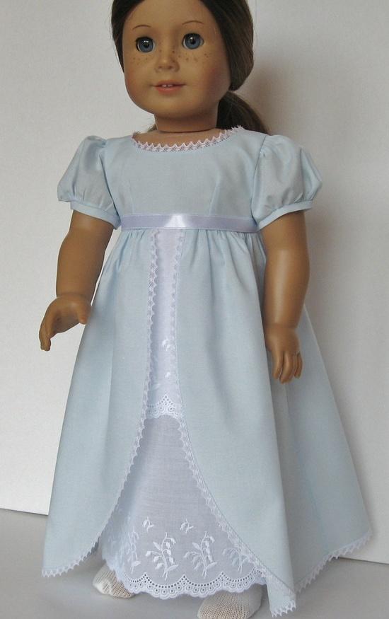 Regency Ballgown for American Girl Caroline Abbott