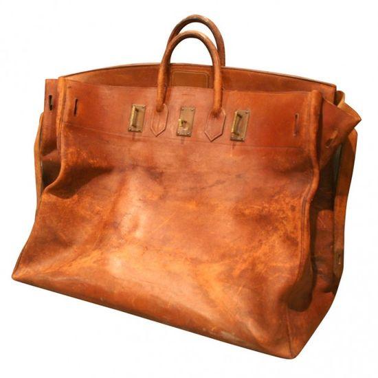 hermès - giant hermes birkin leather travel bag