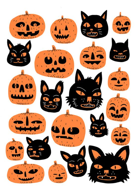 Halloween Risographs by Jack Teagle