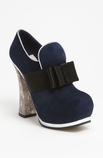 Miu Miu Bow Front Platform Bootie #nordstrom #shoes