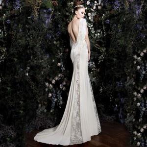 Fringe retro sexy wedding dress