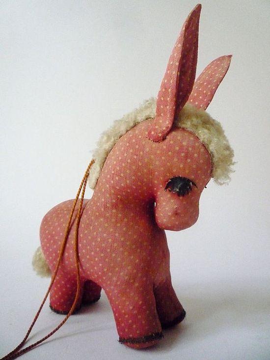Antique Donkey Figurine by oppning on Etsy